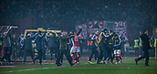 7th December 2017, Rajko Mitic Stadium, Belgrade, Serbia, UEFA Europa League football, Red Star Belgrade versus FC Cologne; Players from Red Star Belgrade celebrate the victory