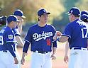 (C-R) Kenta Maeda, A.J. Ellis (Dodgers),<br /> FEBRUARY 21, 2016 - MLB :<br /> Los Angeles Dodgers spring training baseball camp in Glendale, Arizona, United States. (Photo by AFLO)