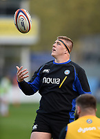 Sam Nixon of Bath United in action during the pre-match warm-up. Premiership Rugby Shield match, between Bath United and Gloucester United on April 8, 2019 at the Recreation Ground in Bath, England. Photo by: Patrick Khachfe / Onside Images