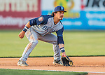 30 July 2016: Brooklyn Cyclones infielder Jay Jabs in action against the Vermont Lake Monsters at Centennial Field in Burlington, Vermont. The Lake Monsters defeated the Cyclones 7-1 in NY Penn League play. Mandatory Credit: Ed Wolfstein Photo *** RAW (NEF) Image File Available ***