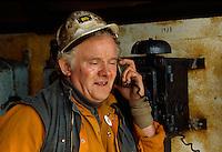 Großbritannien, Wales, Blaenafon, ehemalige Kohlenmine Big Pit, Bergmann, Unesco-Weltkulturerbe.coal mine Big Pit