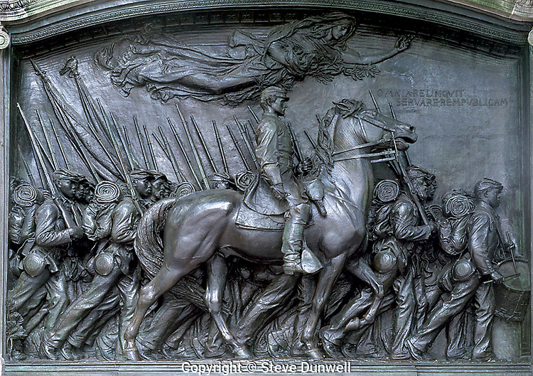 Shaw Memorial sculpture, 54th Mass Regiment, Boston, MA