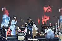 SHEPTON MALLET, ENGLAND - JUNE 30: Lil Nas X and Miley Cyrus performing at Glastonbury Festival, Worthy Farm, Pilton, on June 30, 2019 in Shepton Mallet, England.<br /> CAP/MAR<br /> ©MAR/Capital Pictures