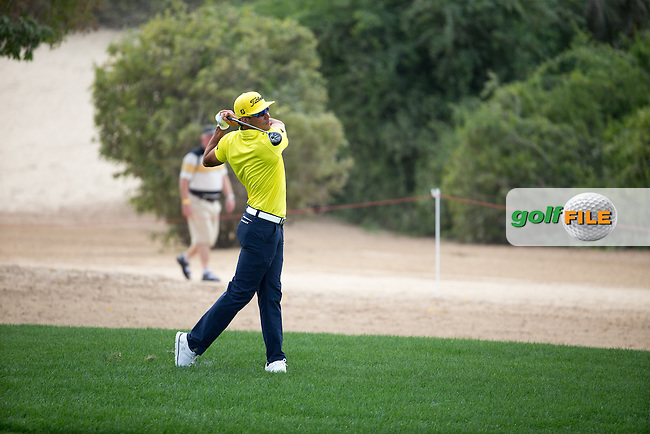 Rafa Cabrera Bello (ESP) on the 8th during the final round of the Abu Dhabi HSBC Championship, Abu Dhabi Golf Club, Abu Dhabi,  United Arab Emirates. 22/01/2017<br /> Picture: Golffile | Fran Caffrey<br /> <br /> <br /> All photo usage must carry mandatory copyright credit (&copy; Golffile | Fran Caffrey)