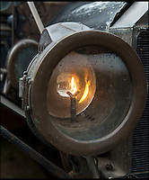 BNPS.co.uk (01202 558833)<br /> Pic: PhilYeomans/BNPS<br /> <br /> Gas powered headlights...if you've got a match.<br /> <br /> Garage that time forgot...<br /> <br /> Business is booming at Neil Tuckets time warp garage in the heart of Buckinghamshire - Where you can by any car&hellip;as long as its a Model T Ford.<br /> <br /> Despite his newest models being nearly 90 years old, Neil struggles to keep up with demand with customers snapping up one a week, despite their rudimentary levels of comfort and trim.<br /> <br /> Neil sources his spares from all over the globe and carefully puts the machines back together again.<br /> <br /> 'There like a giant meccano set really, and so beautifully simple and reliable they just won't let you down...You also don't require road tax or and MOT!'
