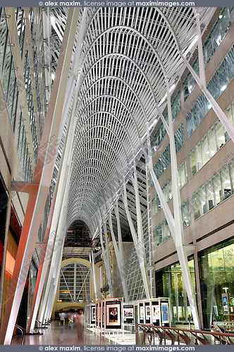 Vaulted ceiling of Allen Lambert Galleria Designed by Spanish architect Santiago Calatrava Toronto Ontario Canada