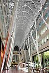 Vaulted ceiling of Allen Lambert Galleria Designed by Spanish architect Santiago Calatrava Toronto Ontario Canada