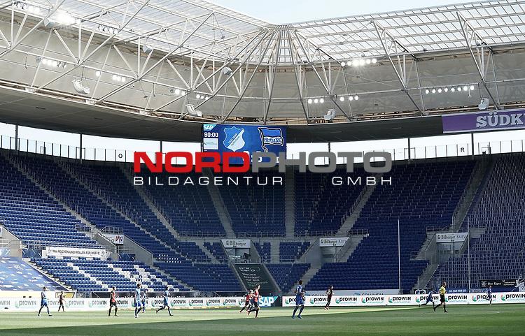 nph00250:  16.05.2020, PreZero-Arena, Sinsheim, GER, 1.FBL, TSG 1899 Hoffenheim vs Hertha BSC Berlin , <br /> <br /> Nur für journalistische Zwecke!<br /> <br /> Gemäß den Vorgaben der DFL Deutsche Fußball Liga ist es untersagt, in dem Stadion und/oder vom Spiel angefertigte Fotoaufnahmen in Form von Sequenzbildern und/oder videoähnlichen Fotostrecken zu verwerten bzw. verwerten zu lassen. <br /> <br /> Only for editorial use! <br /> <br /> DFL regulations prohibit any use of photographs as image sequences and/or quasi-video..<br /> im Bild<br /> Leere Raenge in der PreZero-Arena<br />  <br /> Foto: Thorsten Wagner/Witters/Pool//Verbreitung via Hasan Bratic/nordphoto