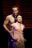 "Daniel Koek as Joseph Cable and Elizabeth Chong as Liat. Ex-Eastenders Actress Samantha Womack stars as Nellie Forbush in the Rogers and Hammerstein musical ""South Pacific"", running at the Barbican Theatre, London."