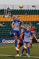 Rochester, NY - Friday June 24, 2016: Whitney Engen during a regular season National Women's Soccer League (NWSL) match between the Western New York Flash and the Boston Breakers at Rochester Rhinos Stadium.