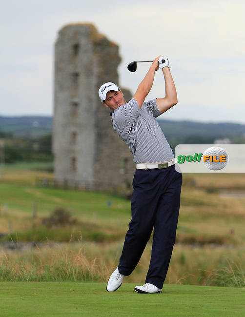 Jeff Hopkins (The Royal Dublin) on the 13th tee during the South of Ireland Amateur Open Championship Second Round at Lahinch Golf Club  28th July 2013 <br /> Picture:  Thos Caffrey / www.golffile.ie