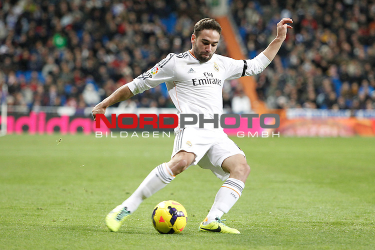 Real Madrid¬¥s Carvajal during La Liga 2013-14 match at Bernabeu Stadium in Madrid, Spain. November 30, 2013. (Foto © nph /  /Victor Blanco)