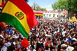 Visita del presidente Boliviano Evo Morales al Jardín Hidalgo de la Delegación Coyoacán.