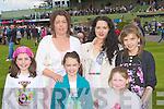 Emily Rose, Karen, Isobelle McAllen, Michelle Kelliher, Lucia and Ivana Lee enjoying the Killarney Races on Sunday..