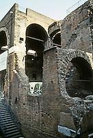 Italy: Rome--Tranjan's Market as seen from entrance on Via 4 Novembre. Photo '82.