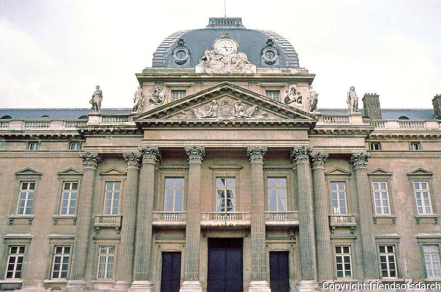 Paris: Ecole Militaire, North elevation, 1751-1777. Photo '87.
