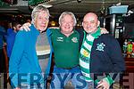 Patsy Fealy, John Collins and Paul Williams enjoying the evening in the Greyhound Bar on Saturday.