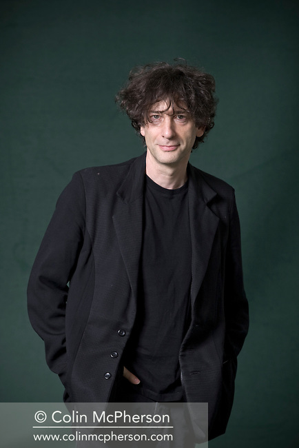 Bestselling American author Neil Gaiman, pictured at the Edinburgh International Book Festival where he talked about his seminal work published 10 years ago entitled 'American Gods'. The three-week event is the world's biggest literary festival and is held during the annual Edinburgh Festival. The 2011 event featured talks and presentations by more than 500 authors from around the world..
