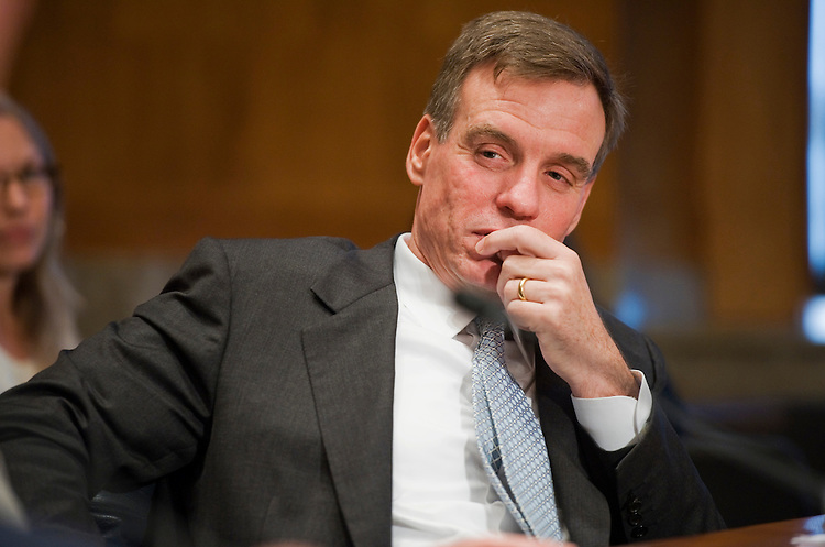 "UNITED STATES - JUNE 23:  Sen. Mark Warner, D-Va., waits to testify before a Senate Homeland Security and Governmental Affairs Committee hearing in Dirksen Building entitled ""Federal Regulation: A Review of Legislative Proposals.""  (Photo By Tom Williams/Roll Call)"
