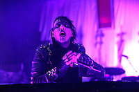 CAMDEN, NJ - OCTOBER 19 :  Marilyn Manson performing at the Susquehanna Bank Center in Camden, New Jersey on October 19, 2012  © Star Shooter / MediaPunch Inc /NortePhoto