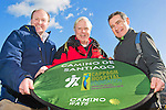 Pictured L -R Jeremy Perrin from Camino Ways, Cappagh Hospital Foundation's patron Francis Brennan with Fundraising Events Manager Mark O'Doherty at the launch of the 'Camino for Cappagh'. The fundraising walk will take place from October 10th to 17th and will cover the last 115km of the spectacular Portuguese Coastal Way. For more information please contact mark@chf.ie or visit www.chf.ie Pic Angela Halpin