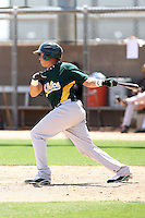 Joel Galarraga, Oakland Athletics 2010 minor league spring training..Photo by:  Bill Mitchell/Four Seam Images.