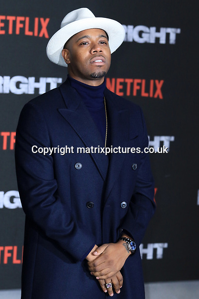 NON EXCLUSIVE PICTURE: MATRIXPICTURES.CO.UK<br /> PLEASE CREDIT ALL USES<br /> <br /> WORLD RIGHTS<br /> <br /> Konan attending the UK premiere of Netflix's 'Bright', held on London's Southbank.<br /> <br /> DECEMBER 15th 2017<br /> <br /> REF: MES 172875