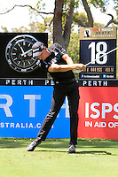 Oliver Goss (AUS) on the 17th during Round 1 of the ISPS HANDA Perth International at the Lake Karrinyup Country Club on Thursday 23rd October 2014.<br /> Picture:  Thos Caffrey / www.golffile.ie