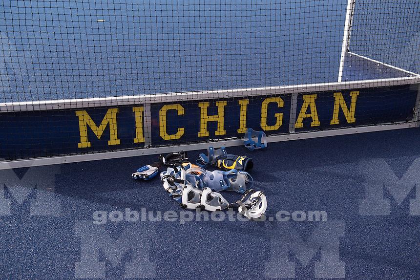 The University of Michigan field hockey team loses to Michigan State University, 2-1, at Ocker Field in Ann Arbor on Oct. 24, 2014.
