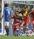 Fabiano celebrates his goal