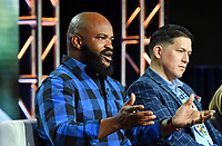 PASADENA, CA - FEBRUARY 10:  Sal Masekela and Eddy Robinson attend The Story of God panel at the 2019 National Geographic portion of the Television Critics Association Winter Press Tour at The Langham Huntington Hotel on February 10, 2019 in Pasadena, California. (Photo by Vince Bucci/National Geographic/PictureGroup)