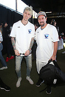 MALIBU, CA - JANUARY 12: Machine Gun Kelly, Adam Sandler, at the 2nd Annual California Strong Celebrity Softball Game at Pepperdine University Baseball Field in Malibu, California on January 12, 2020. <br /> CAP/MPIFS<br /> ©MPIFS/Capital Pictures