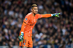Goalkeeper Alphonse Areola of Paris Saint Germain reacts during the UEFA Champions League 2017-18 Round of 16 (1st leg) match between Real Madrid vs Paris Saint Germain at Estadio Santiago Bernabeu on February 14 2018 in Madrid, Spain. Photo by Diego Souto / Power Sport Images