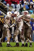 Amon Gordon talks trash during Stanford's 41-14 win over San Jose State on December 1, 2001 at Spartan Stadium in San Jose, CA.<br />Photo credit mandatory: Gonzalesphoto.com