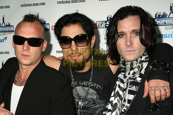 "DAVE NAVARRO & THE PANIC CHANNEL.""Rockstar: Supernova"" Season 2 Premiere Party at the Roxy, West Hollywood, California, USA. .July 13th, 2006.Photo: Byron Purvis/AdMedia/Capital Pictures.Ref: BP/ADM.headshot portrait goatee facial hair sunglasses shades.www.capitalpictures.com.sales@capitalpictures.com.© Capital Pictures."