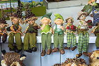 Ornaments and gifts on display at shop in Munich, Bavaria, Germany