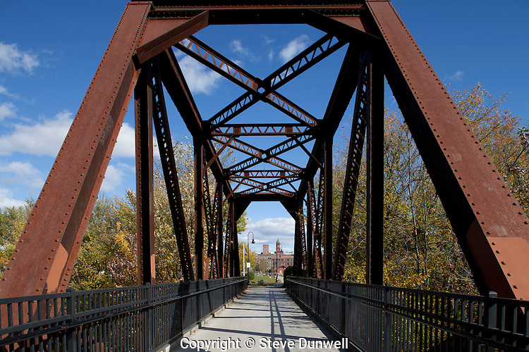 Railroad bridge into Lewiston, ME