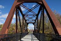 Railroad bridge into Lewiston, ME