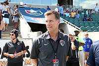 Cary, North Carolina  - Saturday August 19, 2017: Curt Johnson prior to a regular season National Women's Soccer League (NWSL) match between the North Carolina Courage and the Washington Spirit at Sahlen's Stadium at WakeMed Soccer Park. North Carolina won the game 2-0.