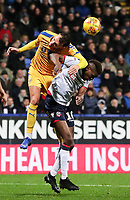 Bolton Wanderers' Sammy Ameobi competing with Wigan Athletic's Kal Naismith<br /> <br /> Photographer Andrew Kearns/CameraSport<br /> <br /> The EFL Sky Bet Championship - Bolton Wanderers v Wigan Athletic - Saturday 1st December 2018 - University of Bolton Stadium - Bolton<br /> <br /> World Copyright © 2018 CameraSport. All rights reserved. 43 Linden Ave. Countesthorpe. Leicester. England. LE8 5PG - Tel: +44 (0) 116 277 4147 - admin@camerasport.com - www.camerasport.com