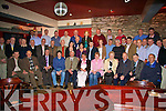 A Bon Voyage to Garda Tom O'Connor seated centre with his wife Betty and son Mark at his retirement party held in the Fertha Bar, Cahersiveen.  Tom has spent 30 years in the District serving the community.  Toms retirement party was attended by many of his colleagues who he served with over the years many of whom travelled quite a distance to celebrate with him.