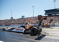Mar 17, 2018; Gainesville, FL, USA; NHRA top fuel driver Steve Torrence during qualifying for the Gatornationals at Gainesville Raceway. Mandatory Credit: Mark J. Rebilas-USA TODAY Sports