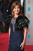 London, UK. 14 February 2016. Actress Stefanie Powers.  Red carpet arrivals for the 69th EE British Academy Film Awards, BAFTAs, at the Royal Opera House. © Vibrant Pictures/Alamy Live News