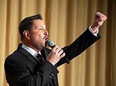 Ty Herndon sings the National Anthem at the 2018 White House Correspondents Association Annual Dinner at the Washington Hilton Hotel on Saturday, April 28, 2018.<br /> Credit: Ron Sachs / CNP<br /> <br /> (RESTRICTION: NO New York or New Jersey Newspapers or newspapers within a 75 mile radius of New York City)