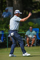 Paul Casey (GBR) sinks his par putt on 10 during round 2 of the WGC FedEx St. Jude Invitational, TPC Southwind, Memphis, Tennessee, USA. 7/26/2019.<br /> Picture Ken Murray / Golffile.ie<br /> <br /> All photo usage must carry mandatory copyright credit (© Golffile | Ken Murray)