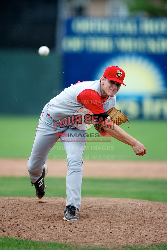 Brooklyn Cyclones pitcher Matthew Koch #39 during a game against the Batavia Muckdogs at Dwyer Stadium on July 26, 2012 in Batavia, New York.  Brooklyn defeated Batavia 7-1.  (Mike Janes/Four Seam Images)