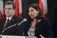 Paris Mayor Anne Hildago speak in Montreal, June 11,2015.<br /> <br /> Photo : Pierre ROUSSEL - Agence Quebec Presse<br /> <br /> <br /> <br /> <br /> <br /> <br /> <br /> <br /> <br /> .