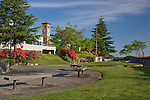 Tacoma, WA<br /> Fireman's Park with a view of the Old City Hall building (1892) in the Old City Hall Historic District