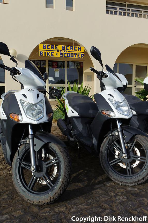 Scooter-Verleih in Santa Maria, Sal, Kapverden, Afrika