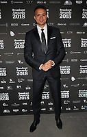 Jermaine Jenas at the Broadcast Awards 2018, Grosvenor House Hotel, Park Lane, London, England, UK, on Wednesday 07 February 2018.<br /> <br /> CAP/CAN<br /> &copy;CAN/Capital Pictures